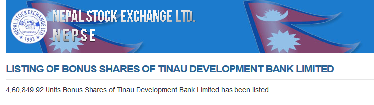 Tinau Development Bank Limited
