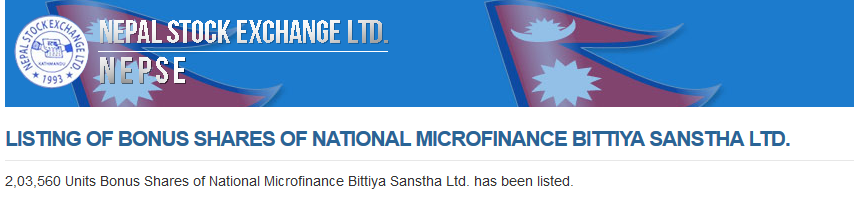 National Microfinance